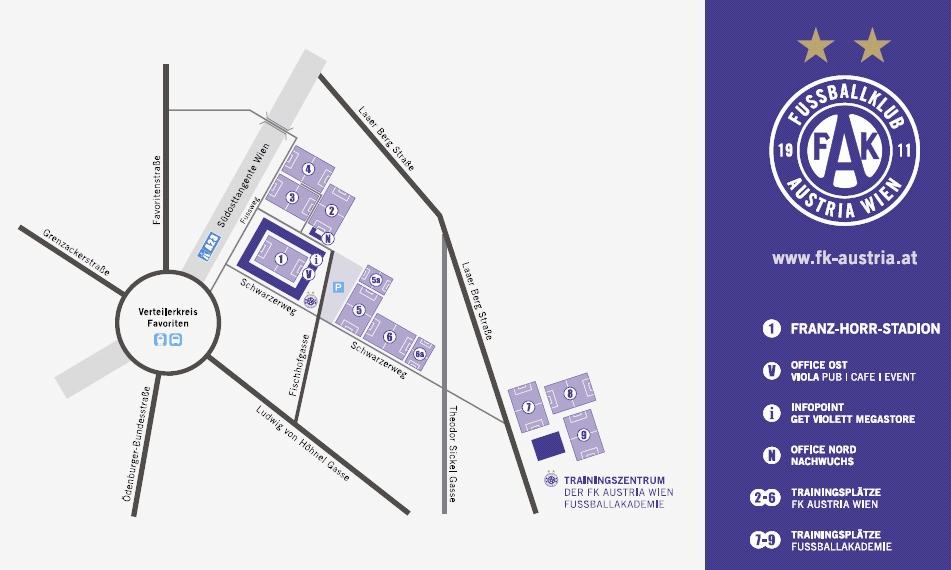Lageplan Generali-Arena