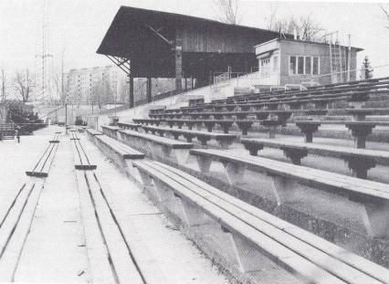 Südtribüne Frühjahr 1982