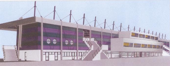 Franz Horr Stadion - Südtribüne NEU